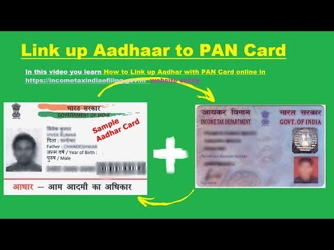 Linking aadhar with pan number easy