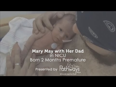 How to Massage Baby - Mary May with Her Dad in NICU