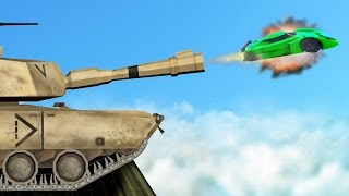 SHOOT CARS OUT OF TANKS IN GTA 5! (GTA 5 Funny Moments)