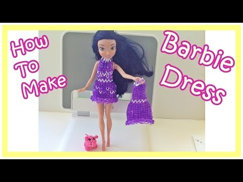 Barbie: How to Make a Rainbow Loom Charms Barbie Dress