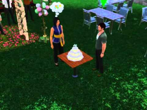 The Sims 3 Cutting Wedding Cake