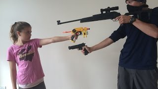 Nerf Robbery - Defend the House