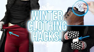 10 WINTER CLOTHING HACKS YOU NEED TO KNOW!