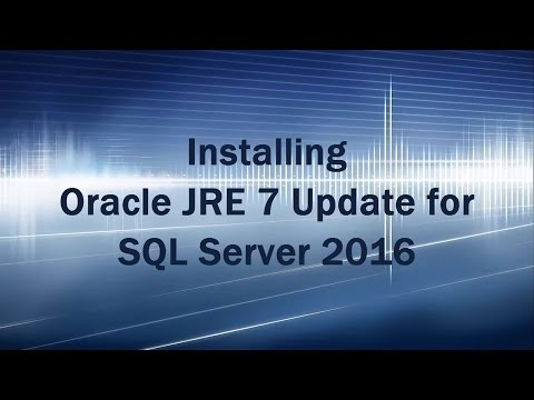 Polybase - Install JRE 7 Update while installing SQL Server 2016/2017
