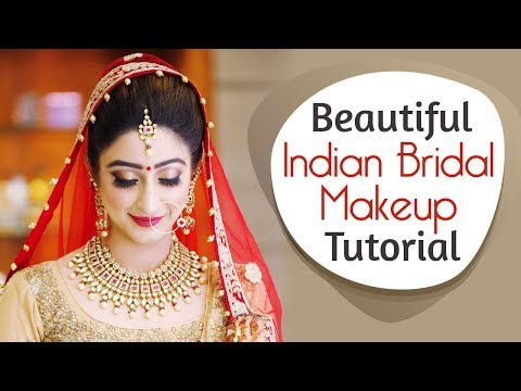 Beautiful Indian Bridal Makeup Tutorial | Glittery Eye Makeup For Indian Brides | Krushhh by Konica