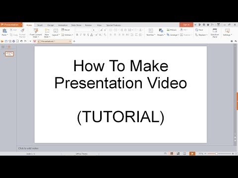 How to make presentation video using powerpoint alternative (WPS Office)