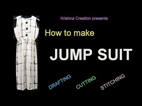 How to make JUMP SUIT easily at home in Hindi, DIY, By Krishna Creation