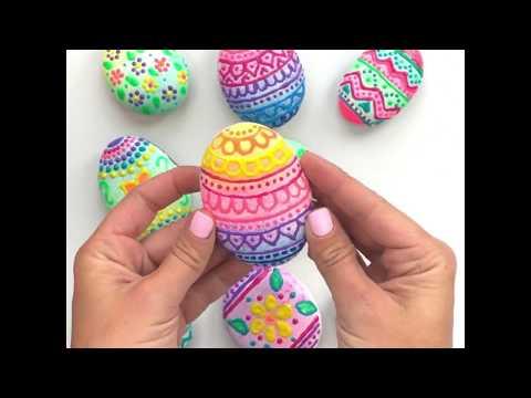 Easter Eggs Rocks