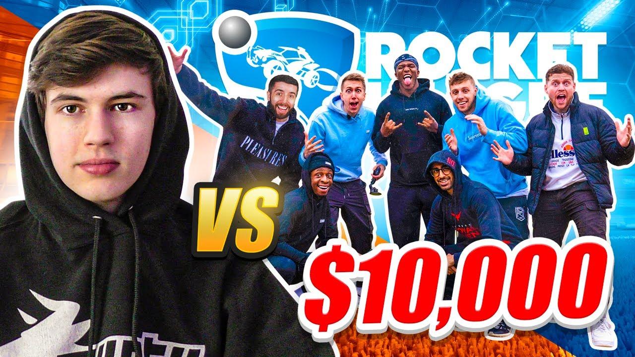 7 SIDEMEN VS 1 ROCKET LEAGUE PRO for $10,000