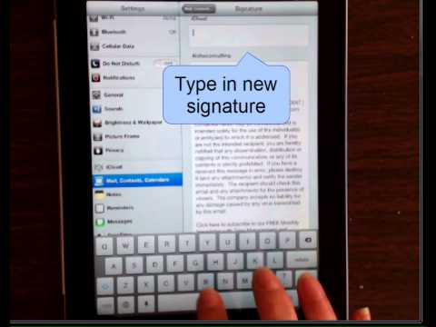 How to Use Different Signatures with Multiple e-mail Accounts (iPad and iPhone)