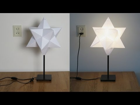 Paper Small Stellated Dodecahedron Lampshade Tutorial
