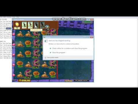 Plant Vs Zombies Cheat Using Cheat Engine Advanced Sun/No Cooldown