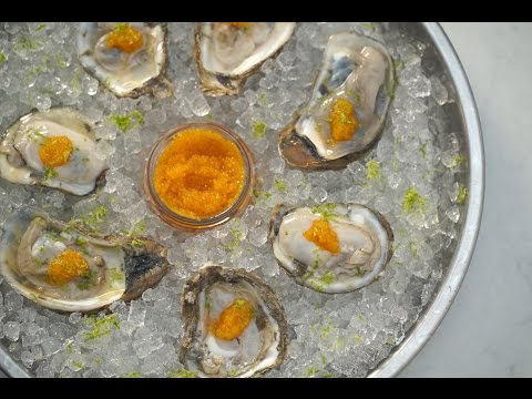 Gin Half-Shell Oyster Shooters