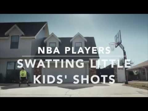 NBA Players Swatting Little Kids' Shots