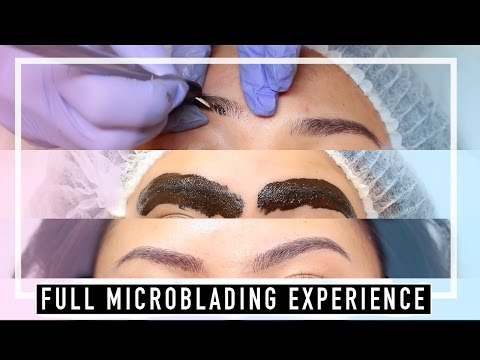 Microblading on Asian Brows from Start to Finish includes healing process