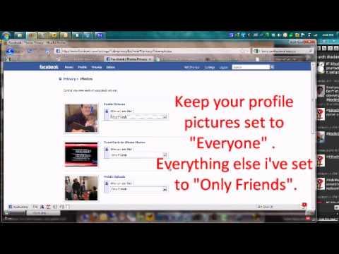 Facebook photo album security