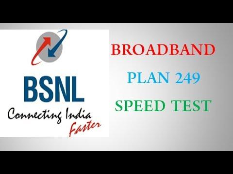 BSNL 249 plan speed test