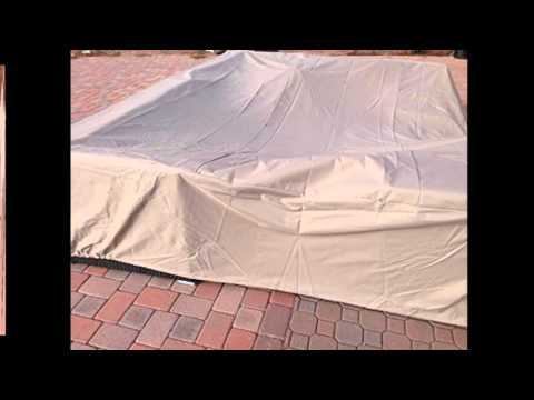 Garden Furniture Covers All Weather Outdoor Patio Sectional Furniture Cover Set in Beige