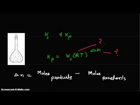 Given equilibrium constants Kc and Kp, find temperature at which the reaction occurs