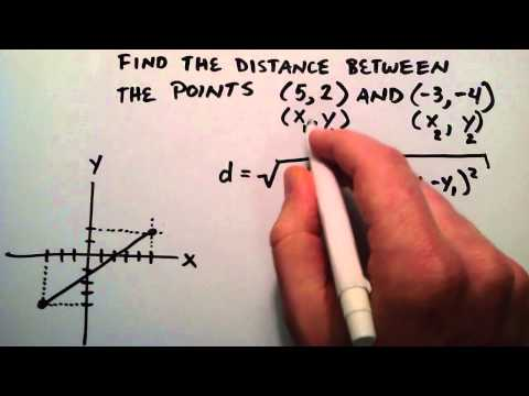 Paul Answers a Question From a Viewer - How to Find the Distance Between Two Points
