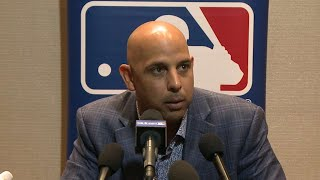 Alex Cora on his plans for the Red Sox