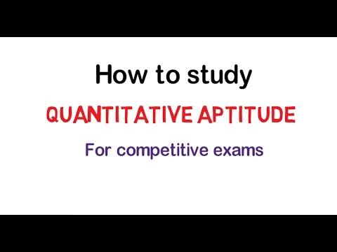 Quantitative aptitude: How to prepare for competitive exams..
