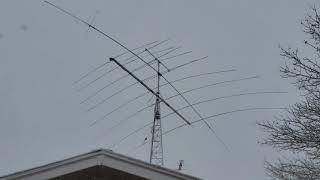 Ham Radio Tennadyne T-8 LPDA in Blizzard