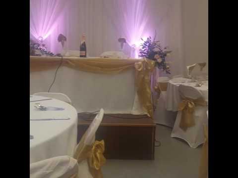 White & Gold wedding decoration