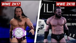 WWE 2K18 - Top 10 New Game Models comparison: Is It Worse? (PS4 & Xbox One)