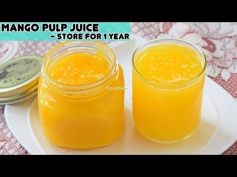 Mango Pulp Juice Recipe - मैंगो जूस साल भर स्टोर करे - Priya R - Magic of Indian Rasoi
