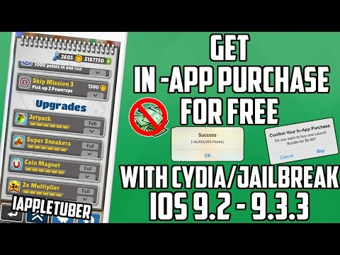 Get FREE in-App Purchases, Unlimited Coins iOS 9.2 - 9.3.3 with CYDIA Jailbreak -iPhone/iPod/iPad