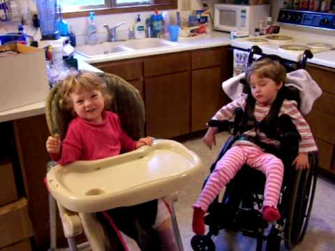 Daughter with Cerebral Palsy trying to say Corn Dog