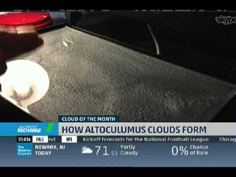 Cloud of the Month - Altocumulus with a kitchen demo