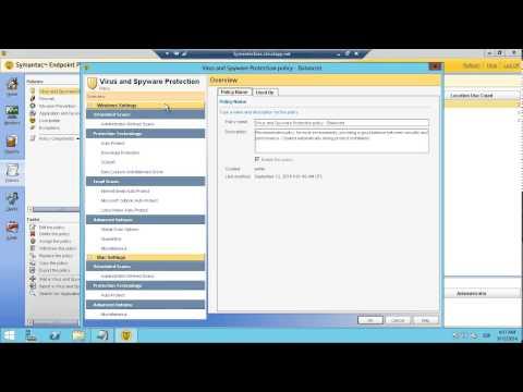 Symantec Endpoint Protection - Vistazo a la consola de administración
