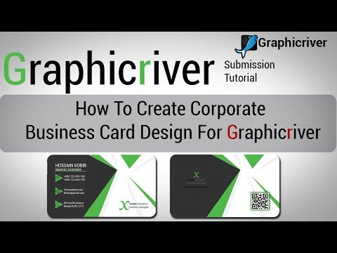 How To Create Corporate Business Card Design For Graphicriver | Graphicriver Submission Tutorial-01