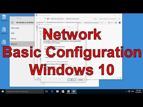 Network basic configuration Windows 10