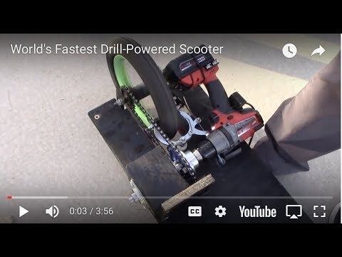 World's Fastest Drill-Powered Scooter