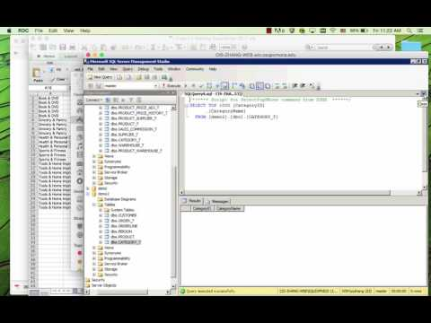 Create table and relationship in Microsoft SQL Server