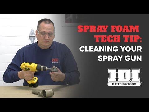 Spray Foam Tech Tip: Cleaning Your Spray Foam Gun