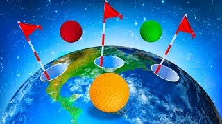 EPIC AROUND THE WORLD HOLE IN ONE! (Golf It)