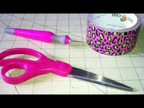 Duct Tape Cheer Bow tutorial