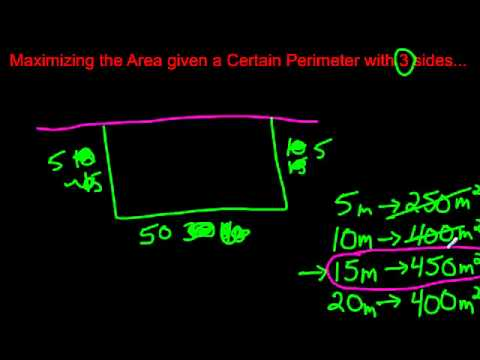 Maximizing the Area and Minimizing the Perimeter Given 3 Sides