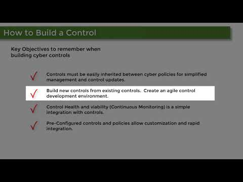 How to build a Cyber Security Control