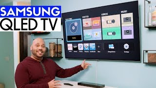 Samsung QLED Q7F 4K HDR TV Unboxing, Setup, Wall Mount! - QN55Q7F!