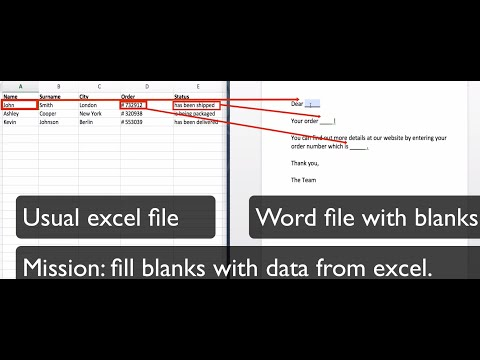 How to mail merge Excel data with Word file FAST! (GenDo)