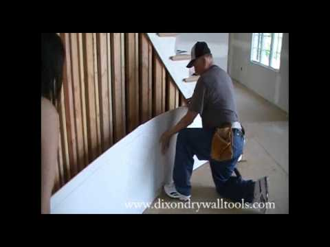 How to Hang a Rounded DryWall Faster and Easier - Part 1