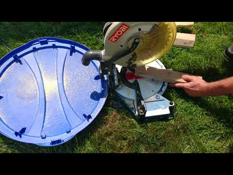 HOW TO CUT VAMPIRE STAKES USING COMPOUND MITER SAW