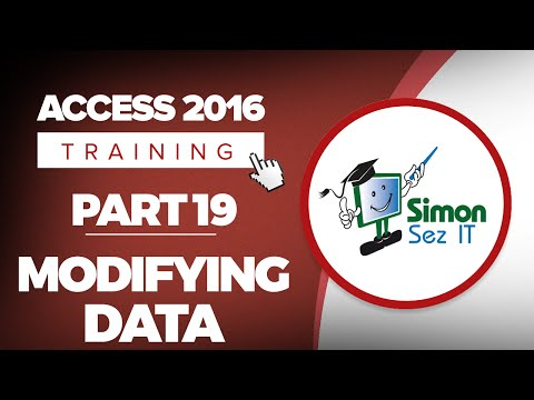 Access 2016 for Beginners Part 19: Entering and Modifying Data in Datasheet View