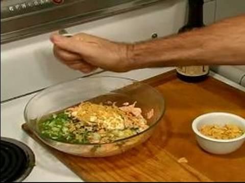 Gourmet Salmon Patties: Burger Recipes : Making Mayonnaise Mix for Salmon Burger Recipe