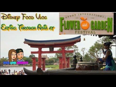 Disney Food Vlog | Epcot's Flower and Garden Festival | Eating through Asia